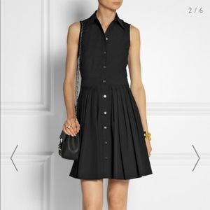 Michael Kors button up black shirt dress pleated